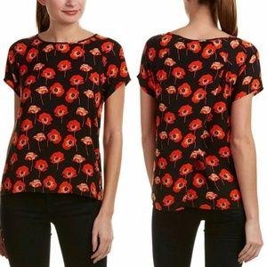 CAbi • Split Back Poppies Blouse